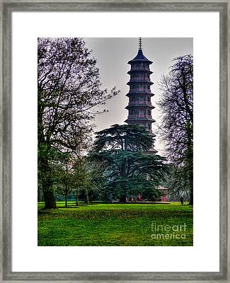 Pergoda Kew Gardens Framed Print