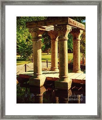 Pergola At Natural Falls II Framed Print by Tamyra Ayles