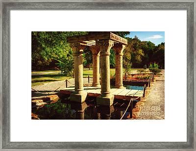 Pergola At Natural Falls Framed Print by Tamyra Ayles
