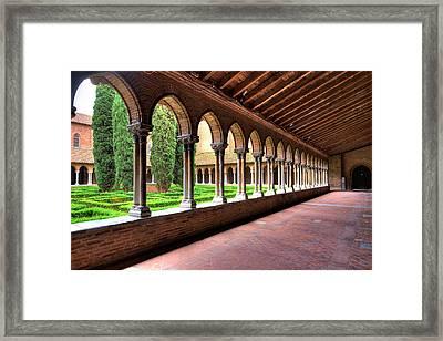 Pergola Insde Eglise Des Jacobins Or Church Of The Jacobins Framed Print