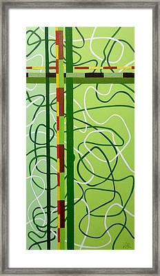 Peridot Party Framed Print by Tara Hutton