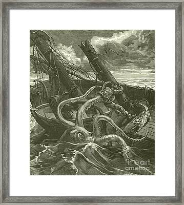 Perilous Adventures At Sea Framed Print