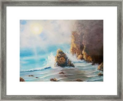 Perilous Shore Framed Print by Joni McPherson