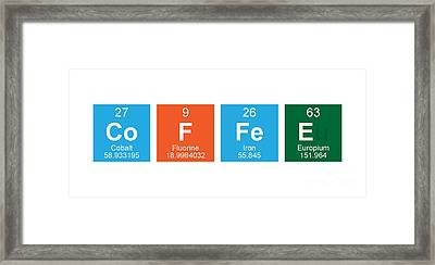 Periodic Table Of Coffee Framed Print