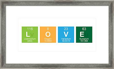 Periodic Table Of Love Framed Print