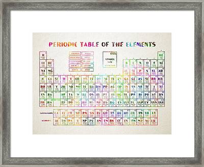 Periodic Table Of The Elements 3 Framed Print