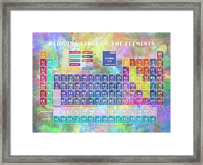 Periodic Table Of The Elements 8 Framed Print
