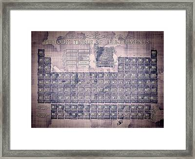 Periodic Table Of The Elements Vintage 2 Framed Print