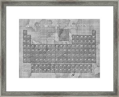 Periodic Table Of The Elements Vintage 3 Framed Print