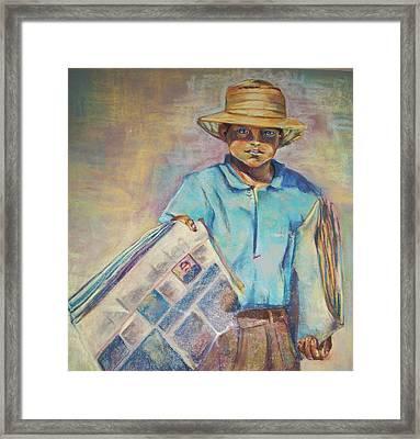 Periodiquero Framed Print by Diana Moya
