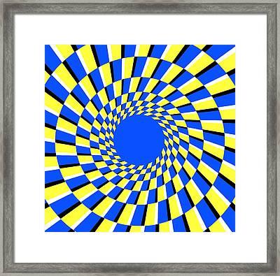 Peripheral Drift Illusion Framed Print