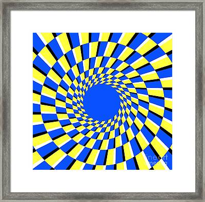 Peripheral Drift Illusion  Framed Print by SPL and Photo Researchers
