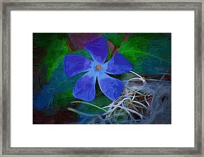 Framed Print featuring the digital art Periwinkle Blue by Donna Bentley