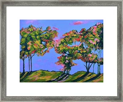 Periwinkle Twilight Framed Print by Donna Blackhall
