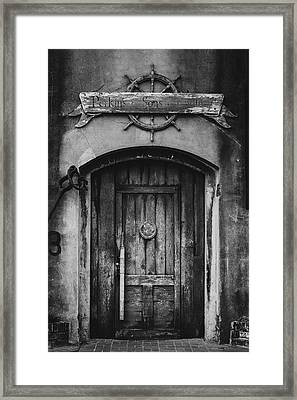 Perkins And Sons Door Framed Print