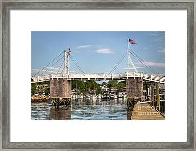 Perkins Cove Bridge Framed Print by Benjamin Williamson