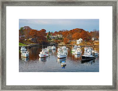 Framed Print featuring the photograph Perkins Cove by Darren White