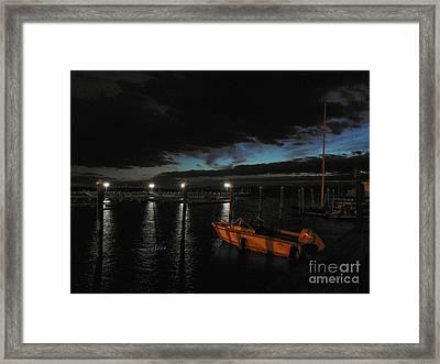 Perkins Pier Sunset Framed Print