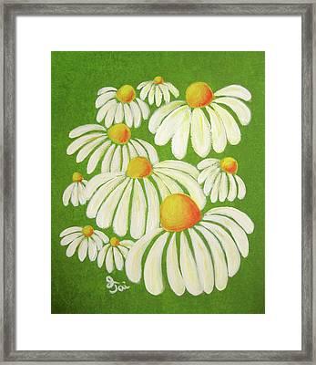 Perky Daisies Framed Print by Oiyee At Oystudio
