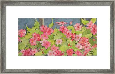 Framed Print featuring the painting Perky by Mary Ellen Mueller Legault