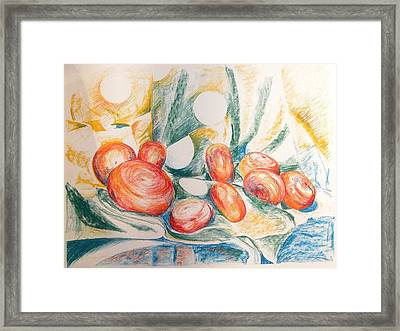 Perles Framed Print by Muriel Dolemieux
