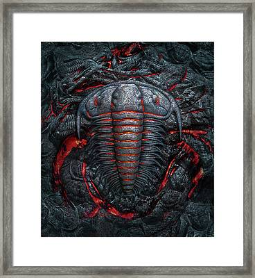 Permian Heat Framed Print