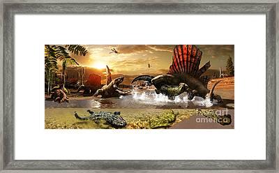 Permian Mural 1 Framed Print
