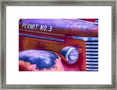 Permit No 3 Framed Print