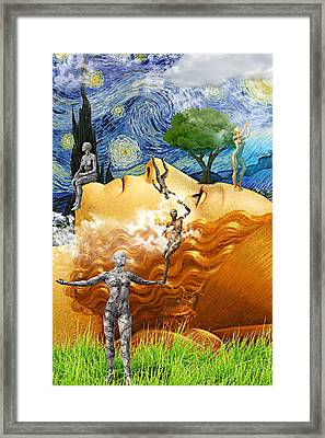 Perpetual Daydream Framed Print by Ally White