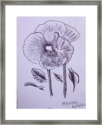 Perpetual Serenity Framed Print by Contemporary Michael Angelo