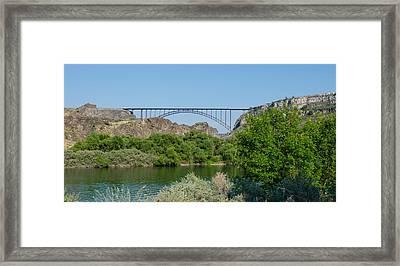Perrine Bridge At Twin Falls Framed Print