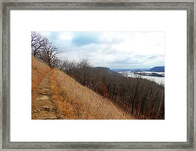 Perrot State Park Mississippi River 5 Framed Print by Brook Burling