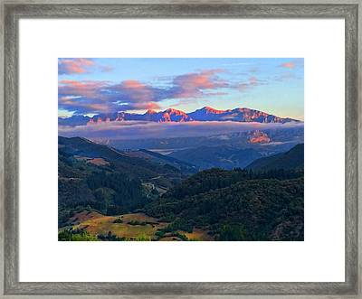 Perrozo Morning Framed Print