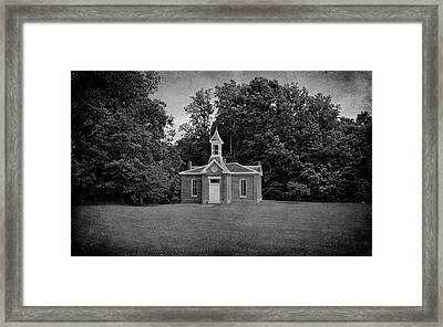 Perry Township School No. 3 B W Framed Print