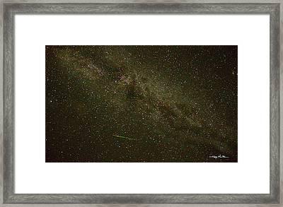 Perseid Meteor Framed Print by Harry Moulton