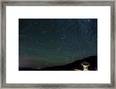 Perseid Meteor Shower Framed Print by Cat Connor
