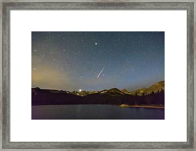 Framed Print featuring the photograph Perseid Meteor Shower Indian Peaks by James BO Insogna