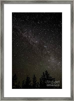 Perseid Meteors Framed Print