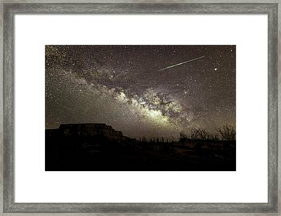 Perseids Milky Way Framed Print