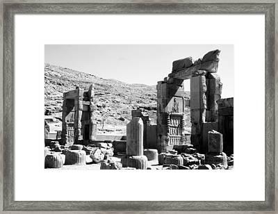 Persepolis Framed Print by Tia Anderson-Esguerra