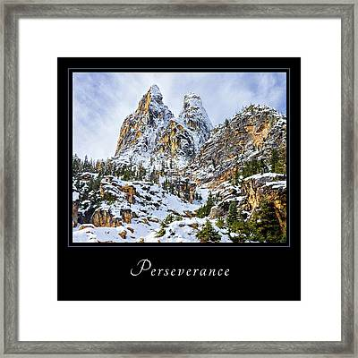 Framed Print featuring the photograph Perserverance 1 by Mary Jo Allen