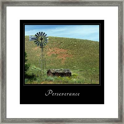 Framed Print featuring the photograph Perserverance 2 by Mary Jo Allen