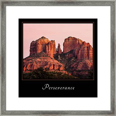 Framed Print featuring the photograph Perserverance 3 by Mary Jo Allen