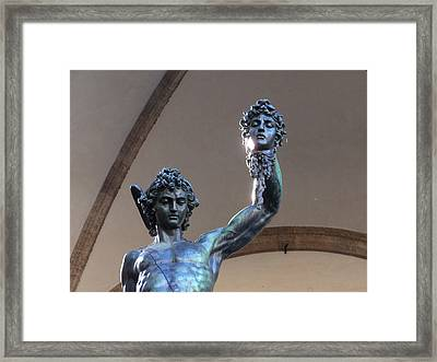 Perseus And Medusa Detail Framed Print by Edan Chapman