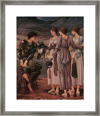 Perseus And The Sea Nymphs Framed Print by Edward Burne-Jones