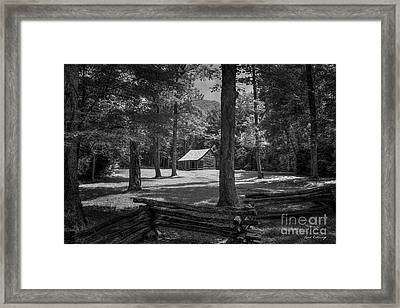 Perseverance Cades Cove Great Smoky Mountains National Park Art Framed Print