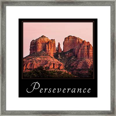 Framed Print featuring the photograph Perseverance by Mary Jo Allen