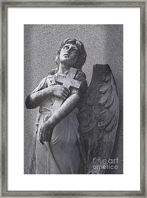 Perseverence - Christian Angel Art Framed Print by Ella Kaye Dickey