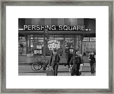 Pershing Square Monochrome Framed Print