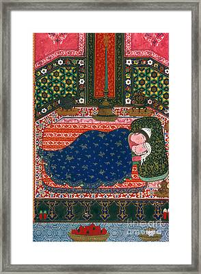Persia: Lovers, 1527-28 Framed Print by Granger